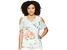 Calvin Klein Printed Cold Shoulder w/ Ruffle