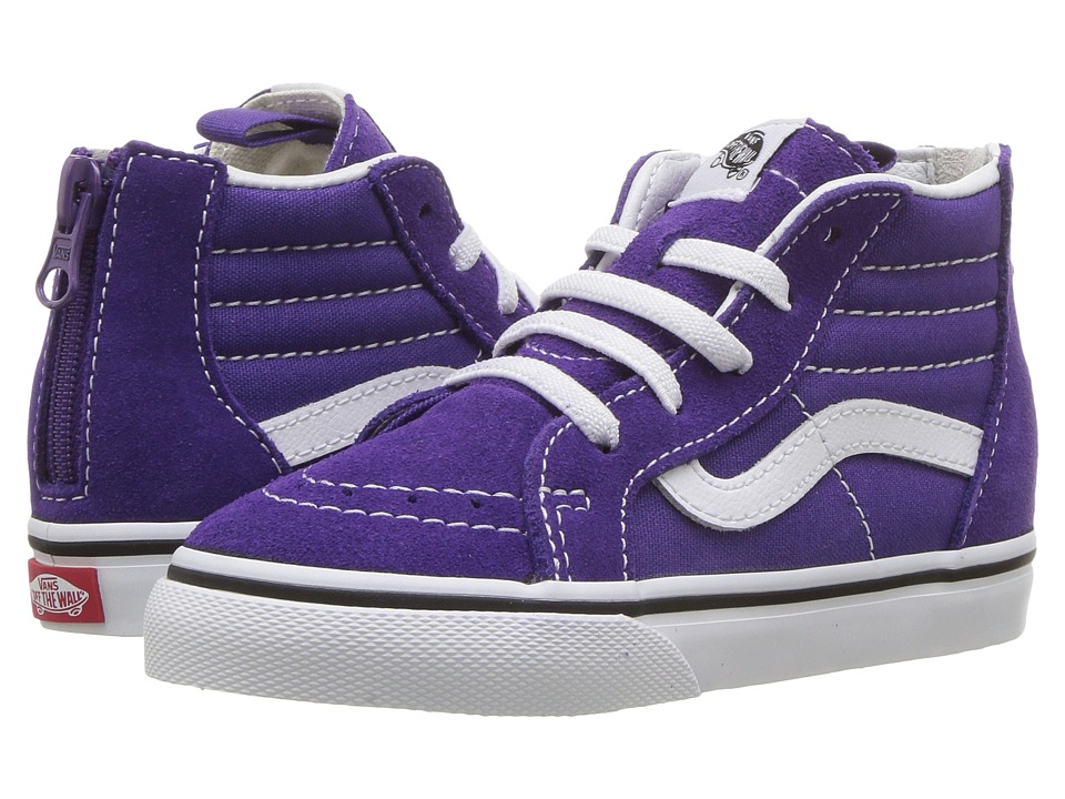 Vans Kids Sk8-Hi Zip (Infant/Toddler) (Heliotrope/True White) Girls Shoes