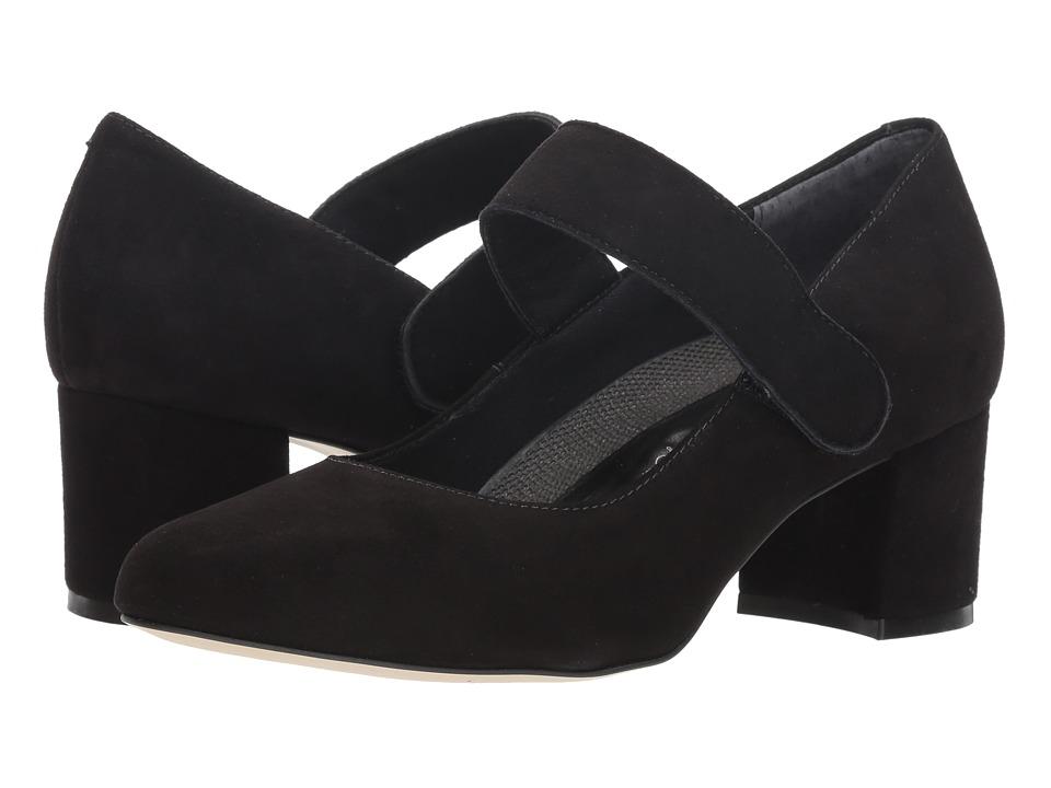 Walking Cradles Jackie-2 (Black Kid Suede) Women's Shoes