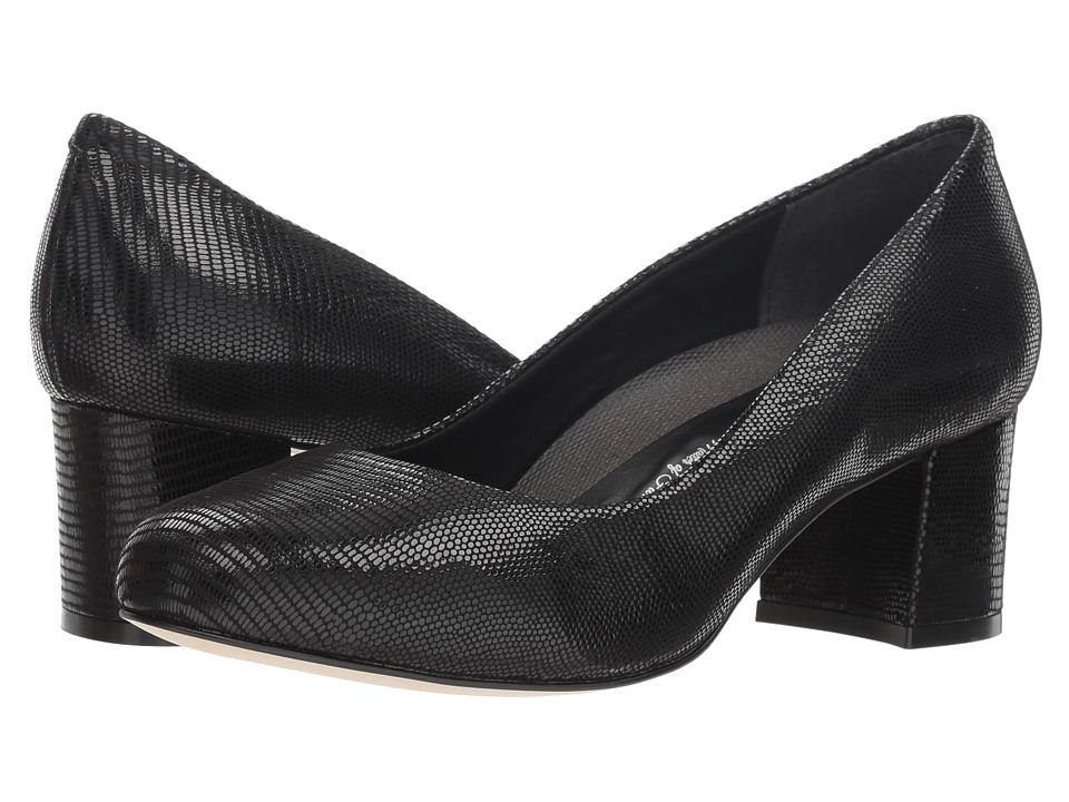 Walking Cradles Jessica (Black Patent Lizard Print) Women's Shoes