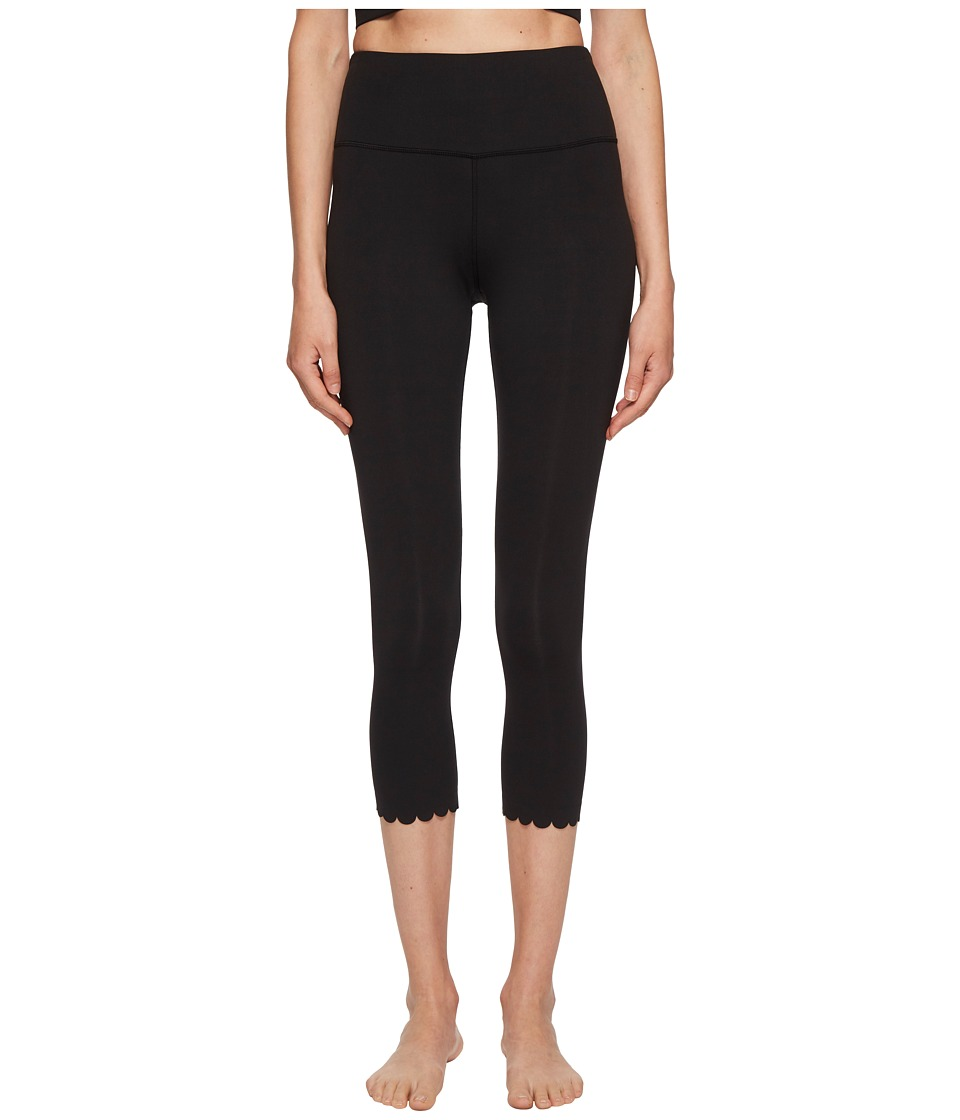Kate Spade New York Athleisure - Scallop Crop Leggings (Black) Womens Casual Pants