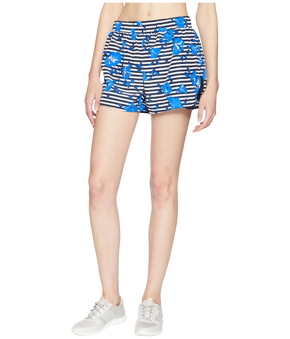Kate Spade New York Athleisure - Hibiscus Stripe Shorts (Rich Navy) Womens Shorts