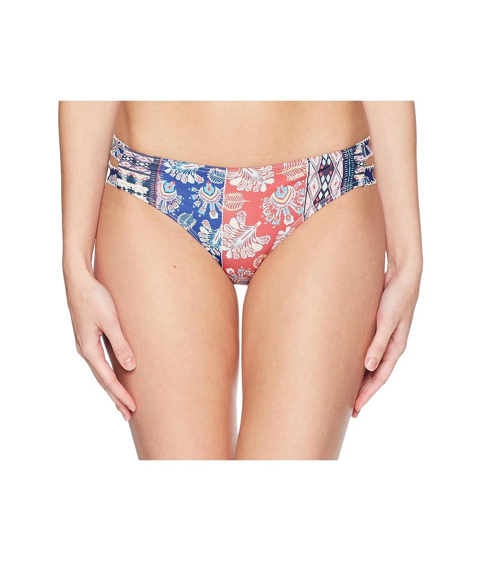 Roxy - Bohemian Vibes 70S Bottoms (Marshmallow/Swim Vertical Flow) Womens Swimwear