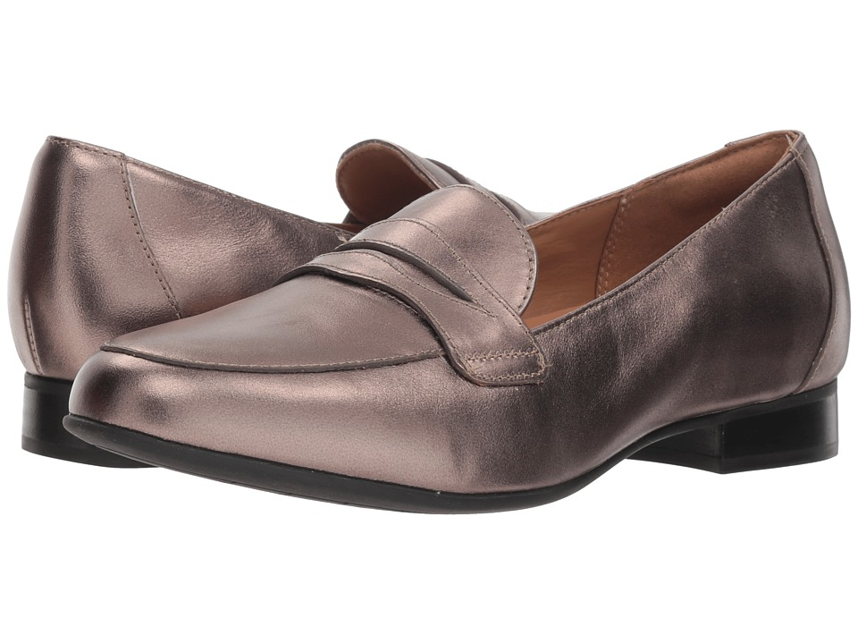 Clarks Un Blush Go (Pebble Metallic Leather) Women's Shoes