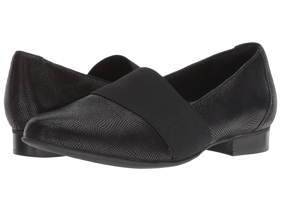Clarks Un Blush Lo (Black Interest Nubuck) Women's Shoes