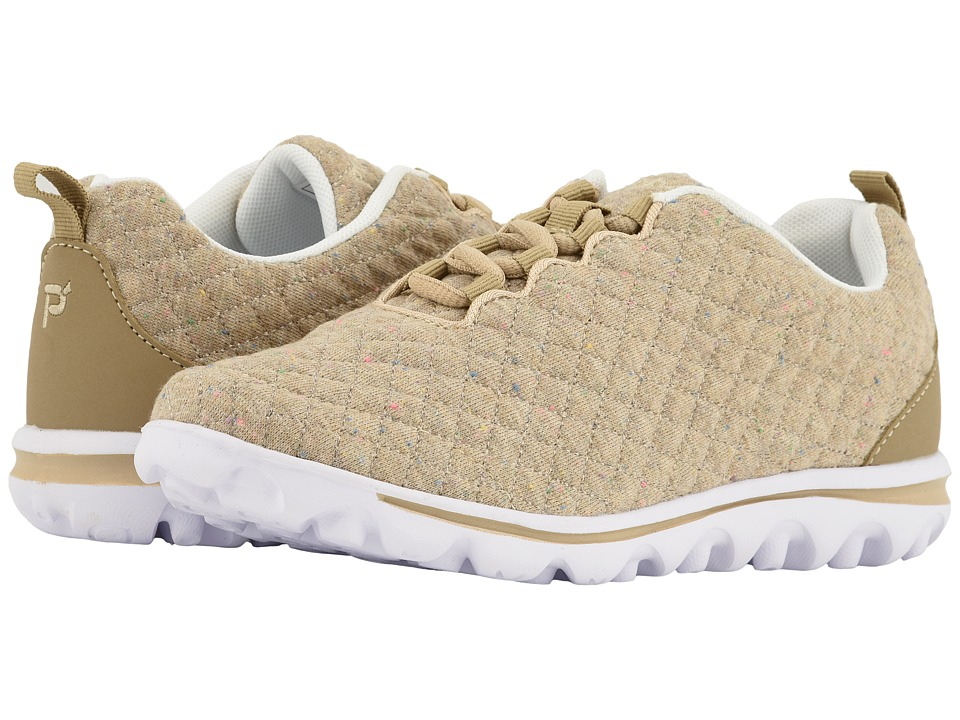 Propet TravelActiv Woven (Beige Quilt) Women's Shoes