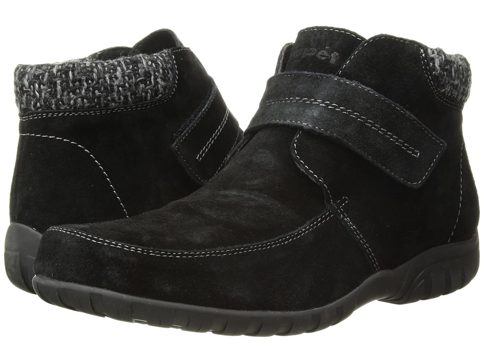 Propet Delaney Strap (Black Suede) Women's Clog/Mule Shoes