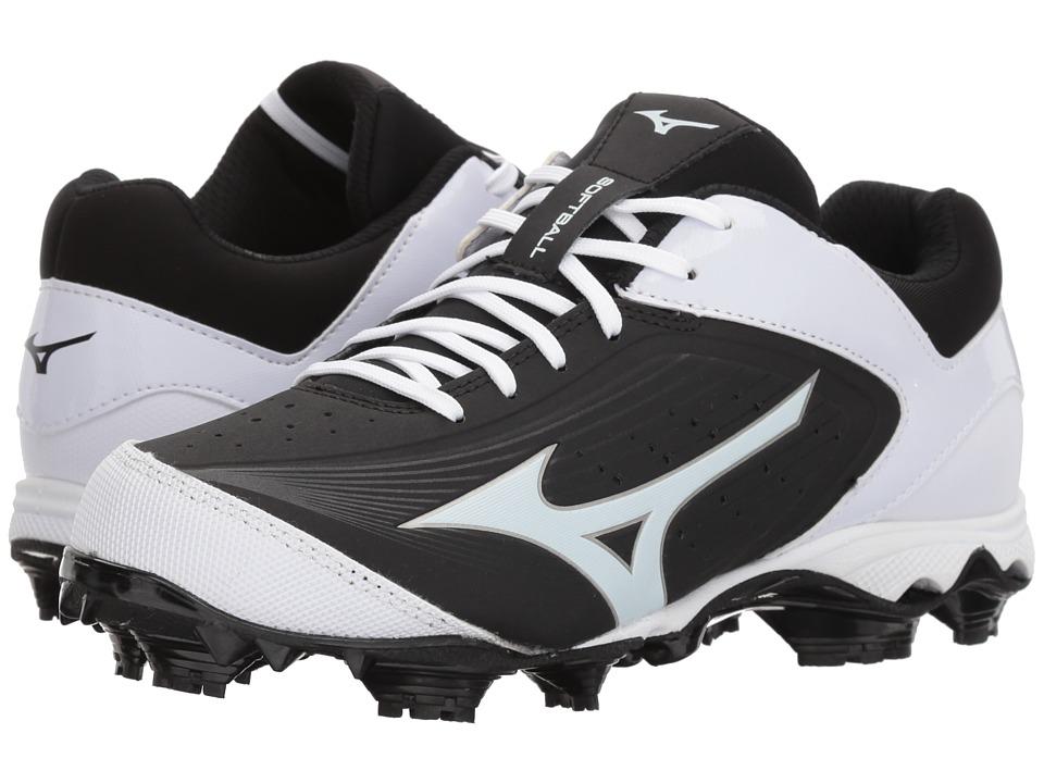 Mizuno 9-Spike Advanced Finch Elite 3 Softball (Black/White) Women's Shoes