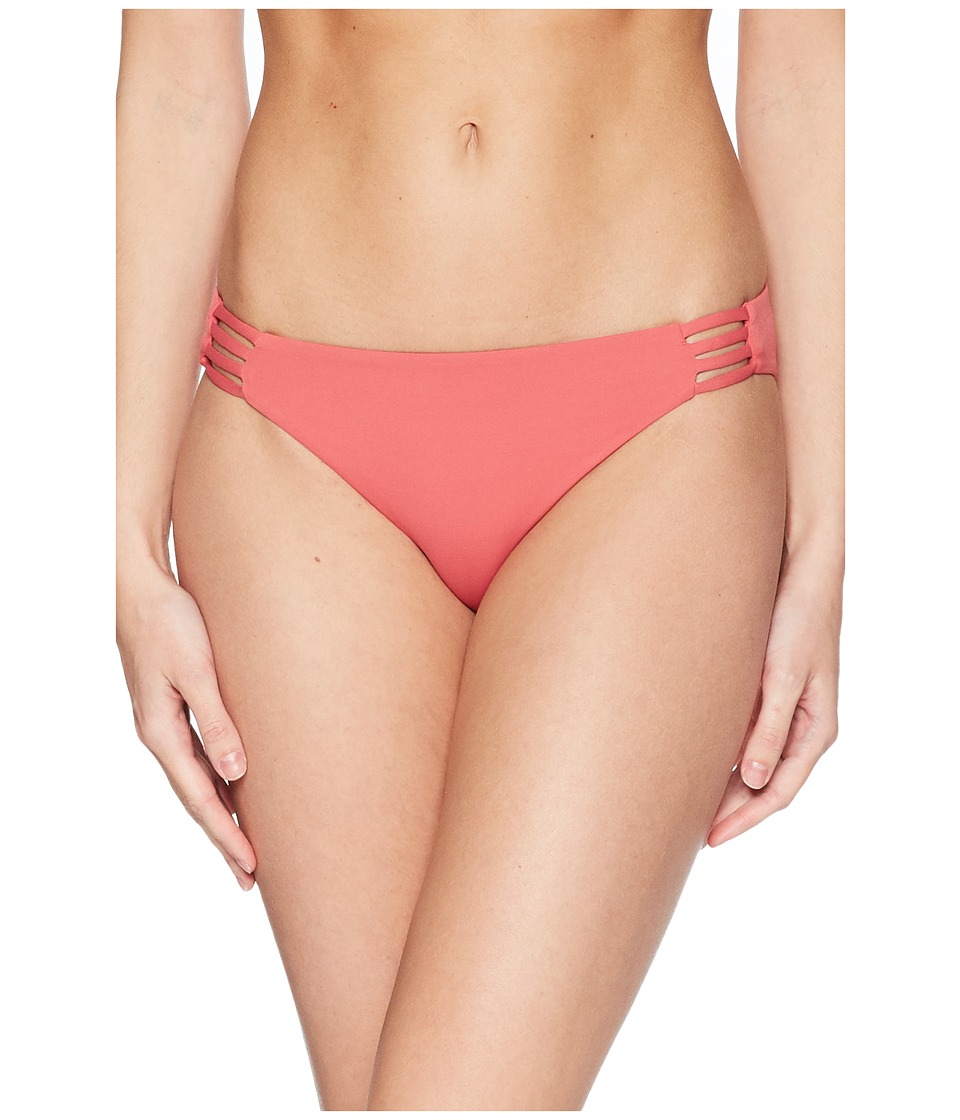 Roxy - Solid Softly Love Reversible 70s Bottoms (Holly Berry) Womens Swimwear