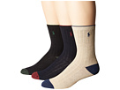 Polo Ralph Lauren Dress Rib Slack with Heel/Toe 3-Pack (Toddler/Little Kid)