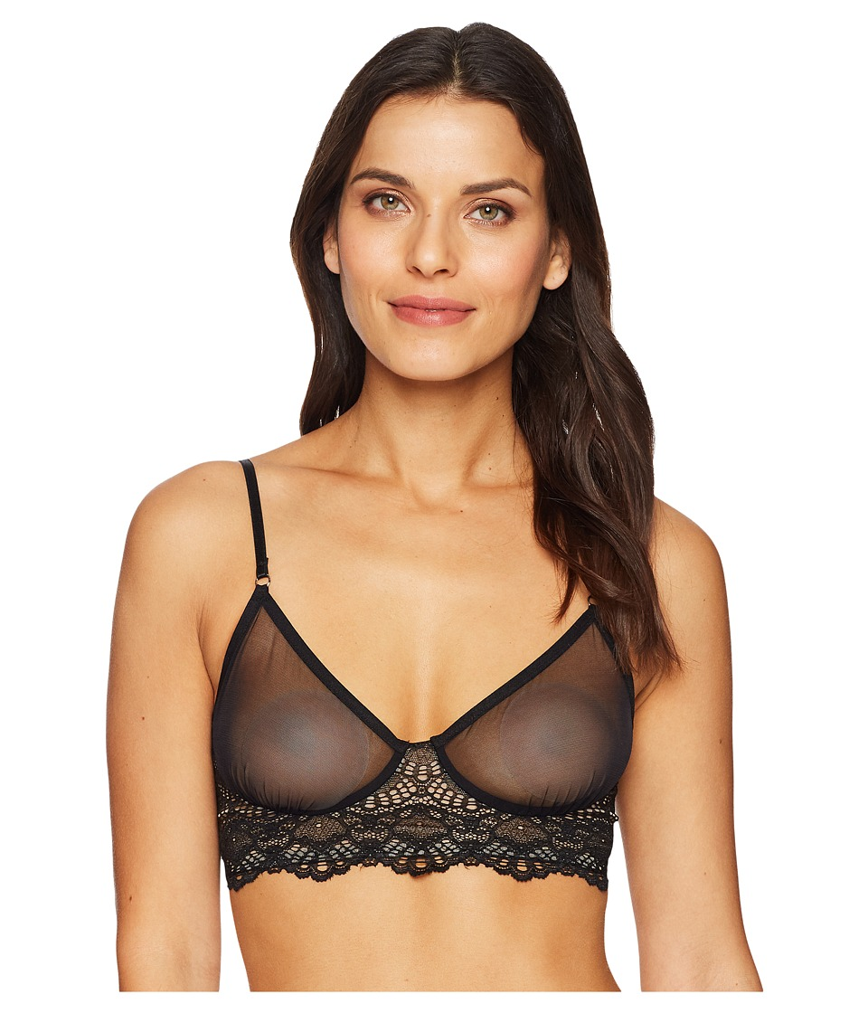 Only Hearts - Whisper Sweet Nothings Longline Bra (Black) Womens Bra