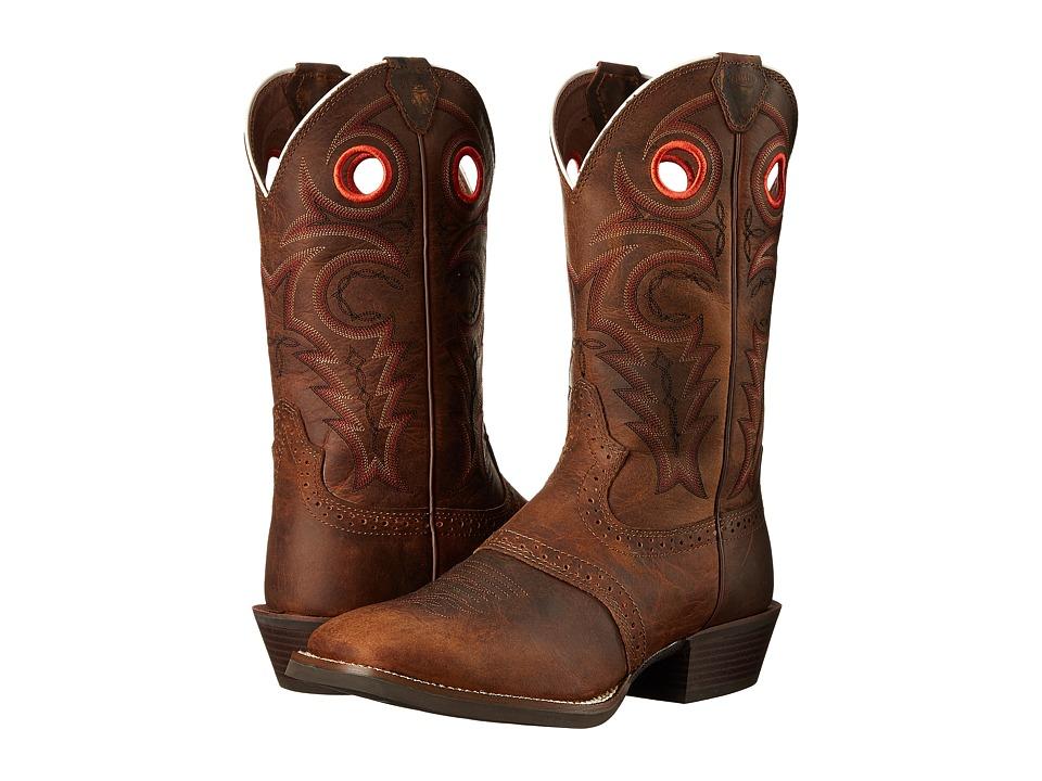 Justin - Sagen (Chocolate Brown) Cowboy Boots