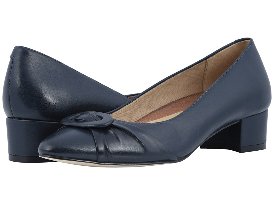 Walking Cradles Harmony (Navy Leather) 1-2 inch heel Shoes