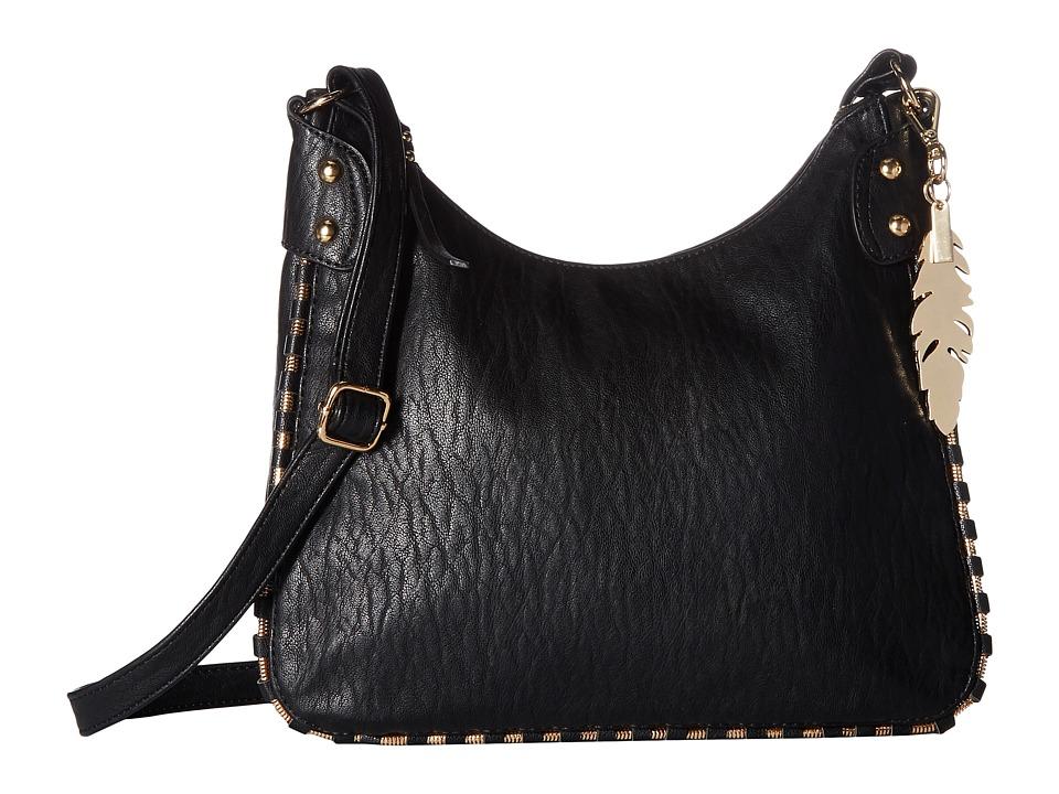 Jessica Simpson - Selena Top Zip Crossbody (Black) Cross Body Handbags