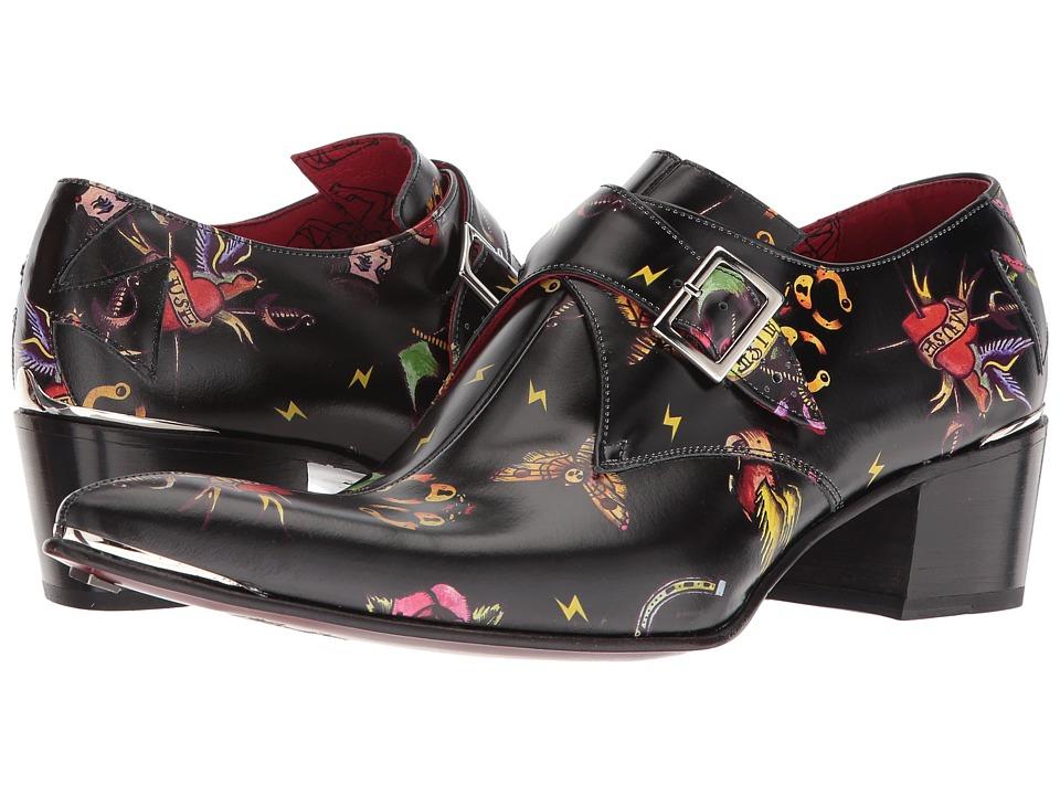 Jeffery-West - Ink Double Monk Shoe (Black) Mens Shoes