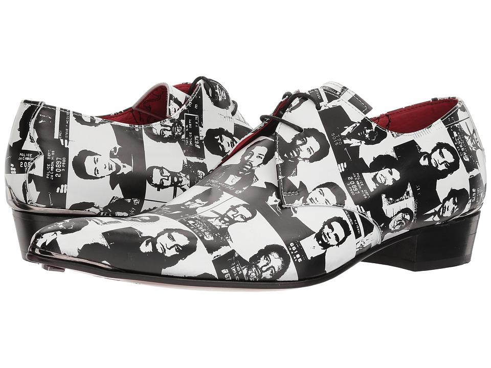 Jeffery-West - Steel Diamond Tipped Lace Shoe (Black/White) Mens Shoes
