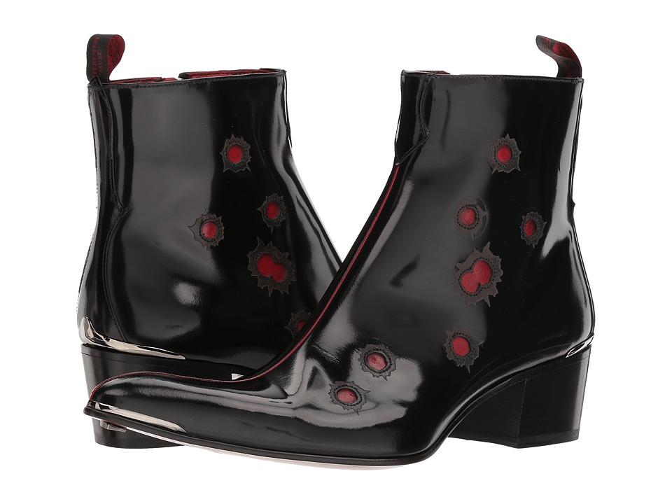 Jeffery-West - Steel Zip Bullet Boot (Black/Red) Mens Boots