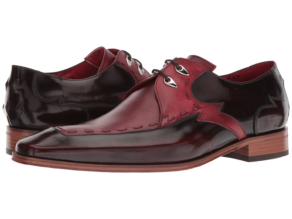 Jeffery-West - Hand Thong Lightning Lace Shoe (Burgundy) Mens Shoes