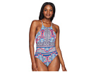 Tommy Bahama Riviera Tile Reversible High-Neck One-Piece