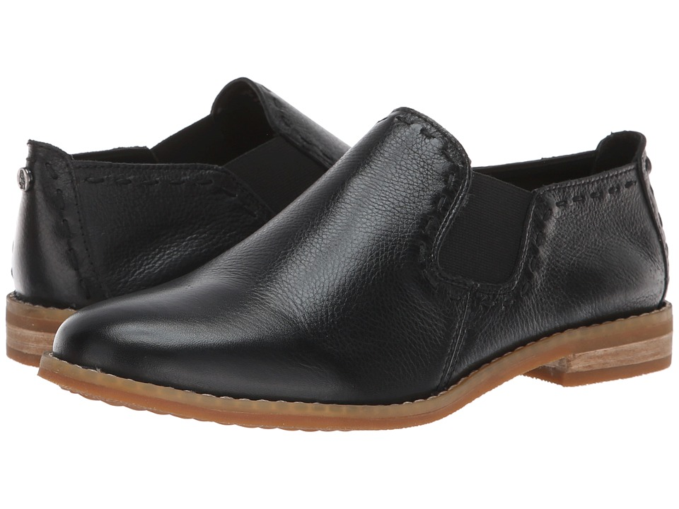 Hush Puppies Chardon Slip-On (Black Leather) Women's Slip-on Dress Shoes