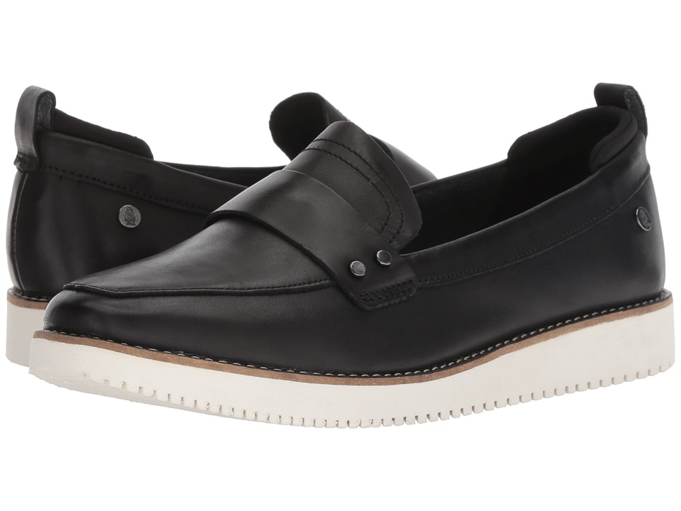Hush Puppies Chowchow Loafer (Black Leather) Slip-On Shoes