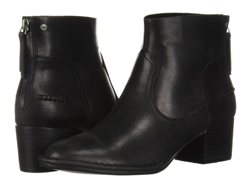 UGG Bandara Ankle Boot (Black Leather)