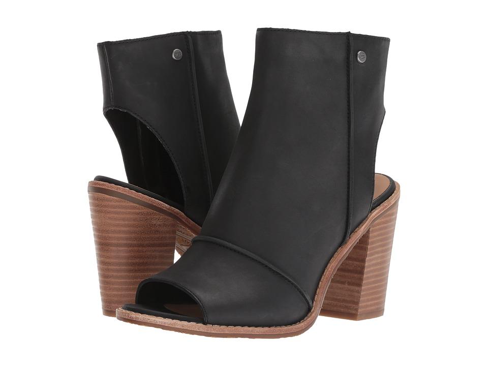 UGG Valencia Peep Toe (Black) High Heels