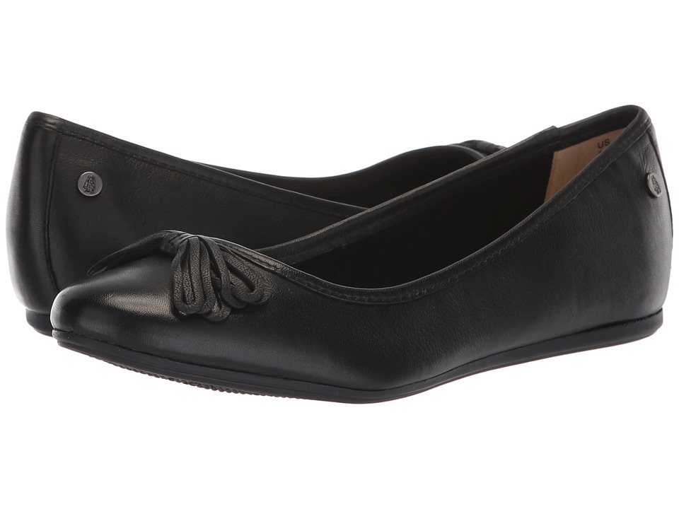 Hush Puppies Heather Bow Ballet (Black Leather) Slip-On Shoes
