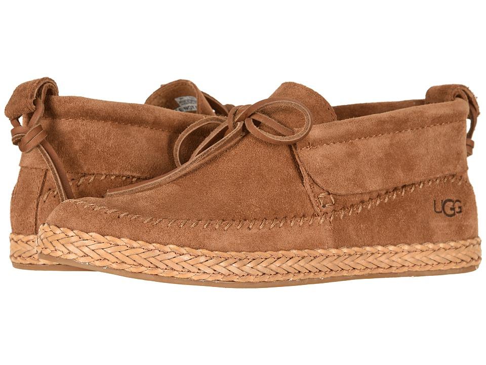 UGG Woodlyn Moc (Chestnut) Slip-On Shoes