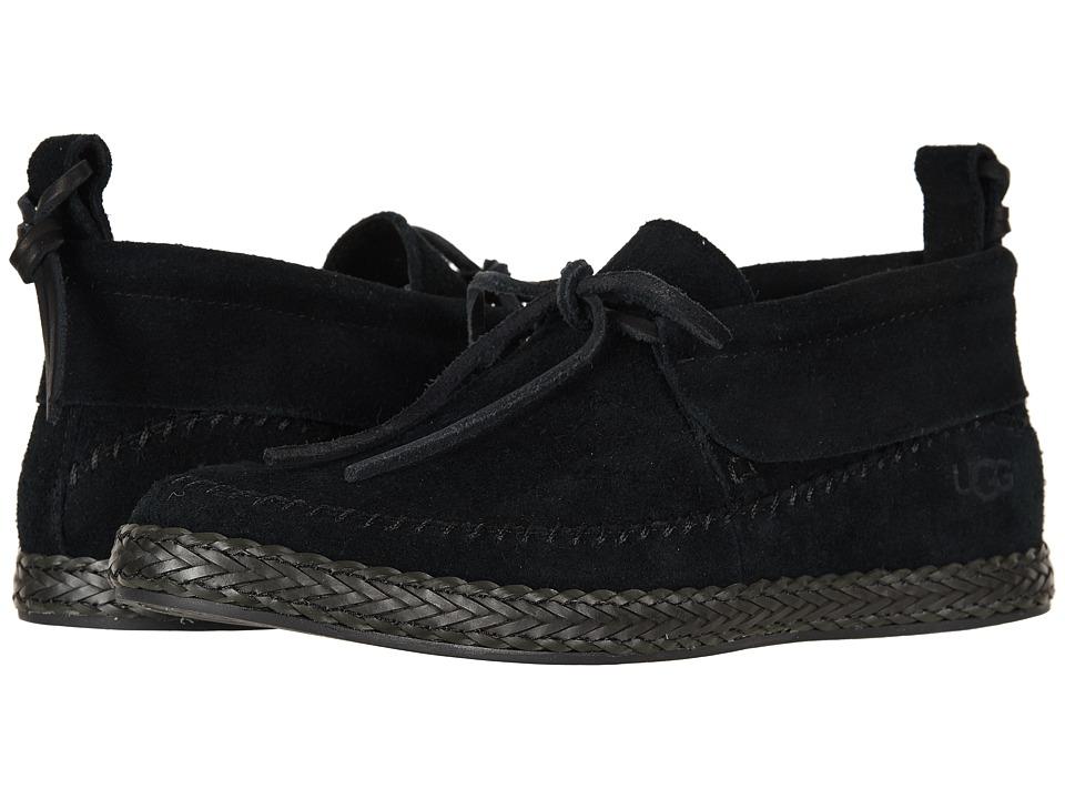 UGG Woodlyn Moc (Black) Slip-On Shoes