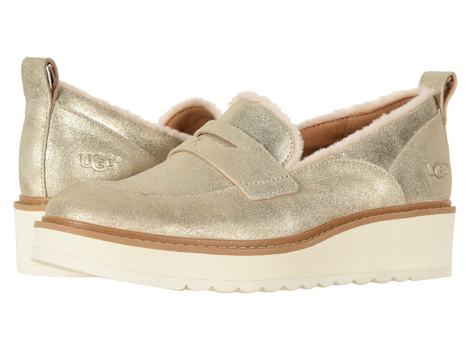 UGG Atwater Metallic Loafer (Gold) Slip-On Shoes