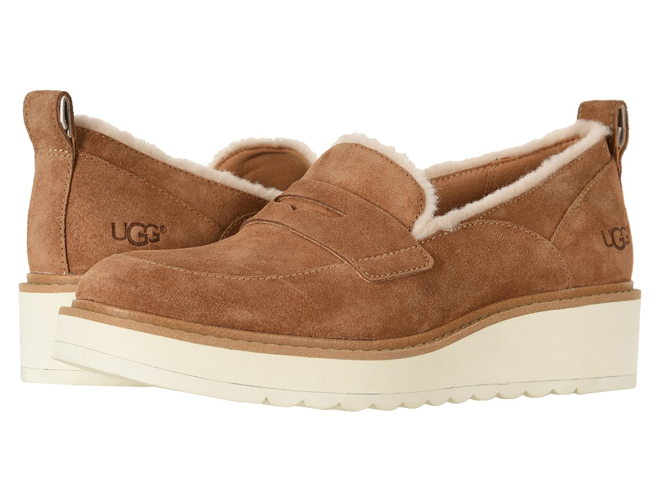UGG Atwater Spill Seam Loafer (Chestnut) Slip-On Shoes