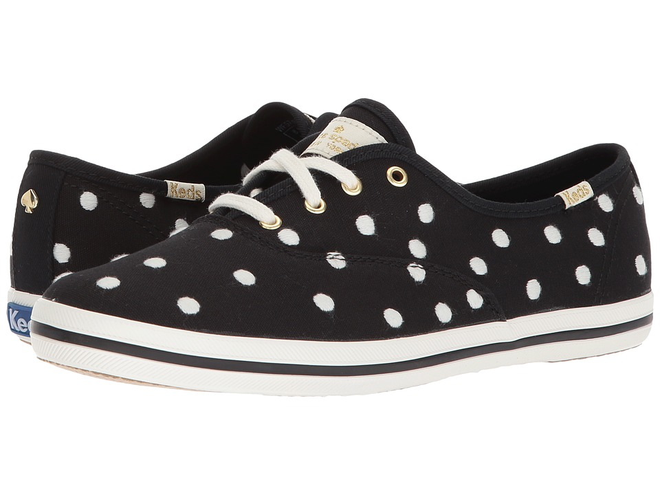 Keds x kate spade new york - Champion Dancing Dot (Black/White) Womens Shoes