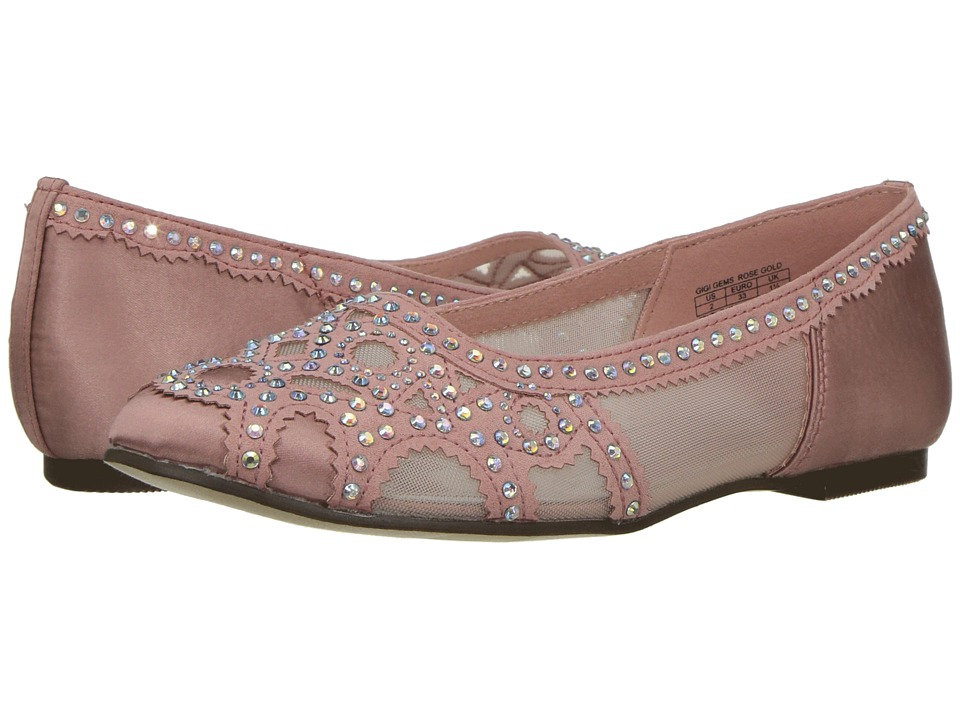 Badgley Mischka Kids - Gigi Gems (Little Kid/Big Kid) (Rose Gold Pink) Girls Shoes