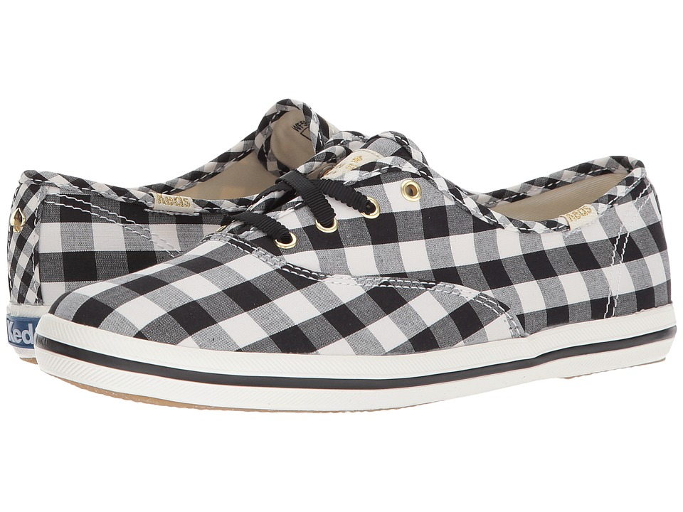 Keds x kate spade new york - Champion Gingham (Black) Womens Shoes