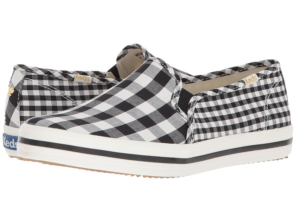 Keds x kate spade new york - Double Decker Gingham (Black) Womens Shoes