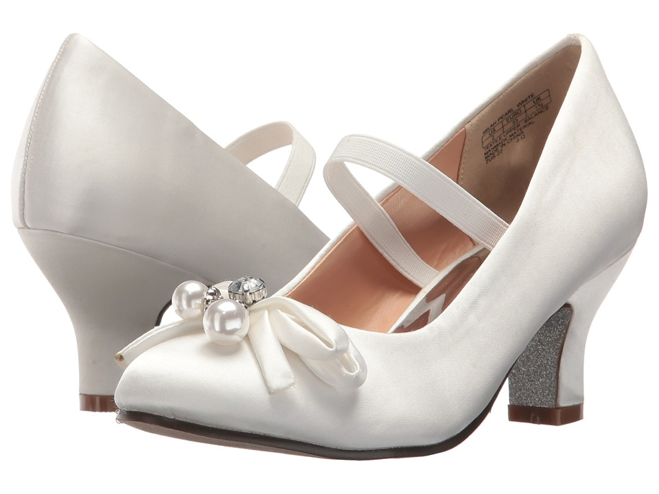Badgley Mischka Kids - Milah Pearl (Little Kid/Big Kid) (White) High Heels