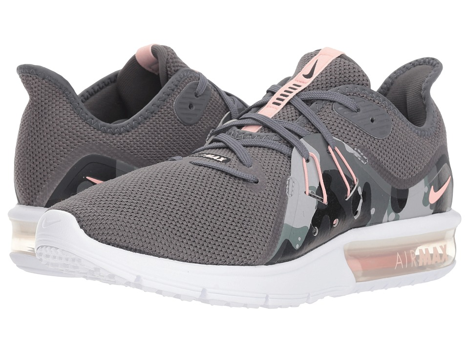 Nike Air Max Sequent 3 Premium (Dark Grey/Storm Pink/Black/White) Women's Running Shoes