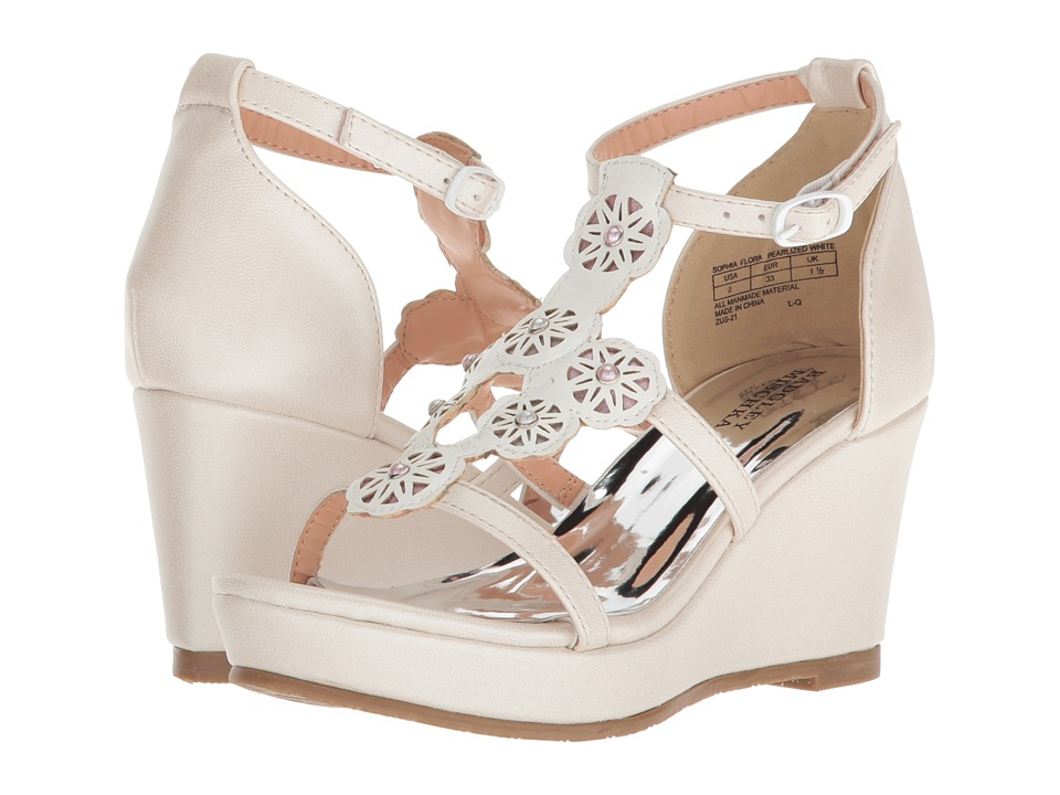 Badgley Mischka Kids - Sophia Flora (Little Kid/Big Kid) (Pearlized White Multi) Girls Shoes