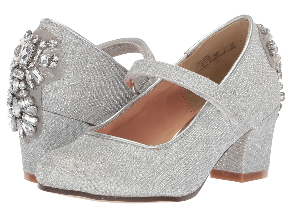 Badgley Mischka Kids - Starlett Stones (Little Kid/Big Kid) (Light Silver Shimmer) High Heels