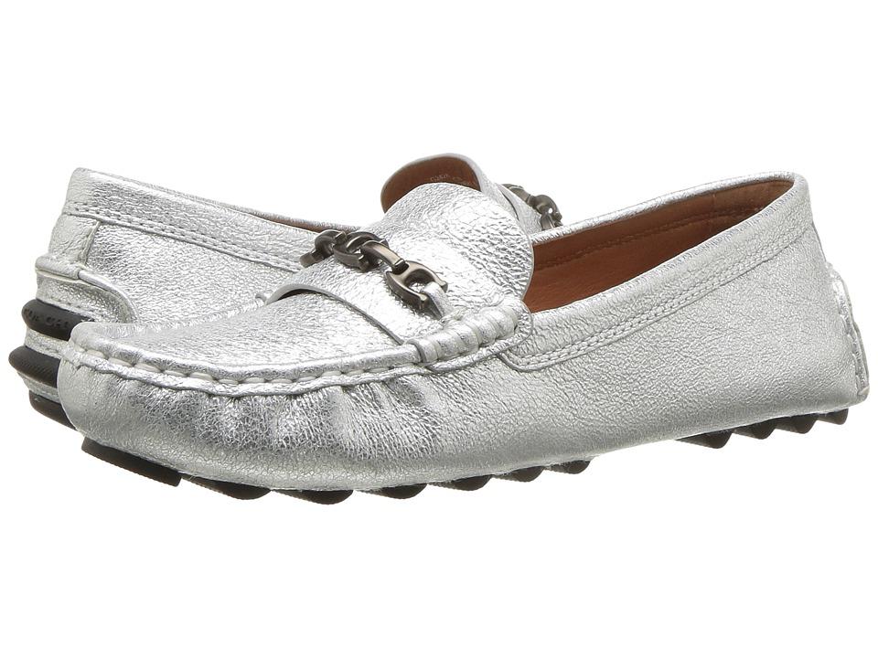 COACH Crosby Driver (Silver Metallic Rock) Slip-On Shoes