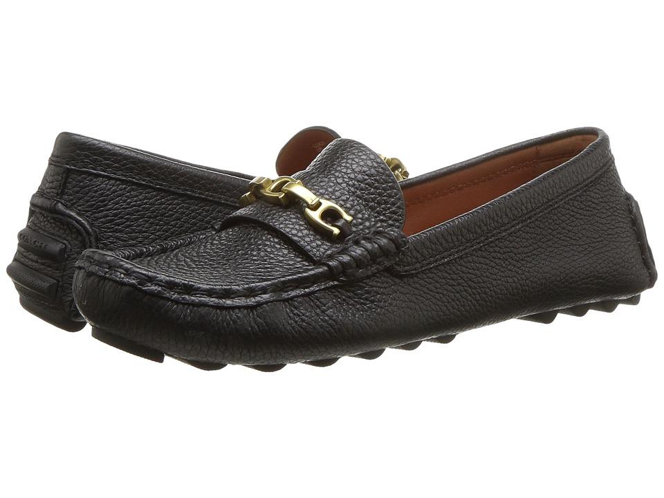 COACH Crosby Driver (Black Grainy) Slip-On Shoes