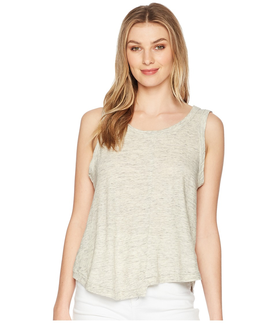 Splendid - Split Seam Tank Top (Heather Grey) Womens Sleeveless