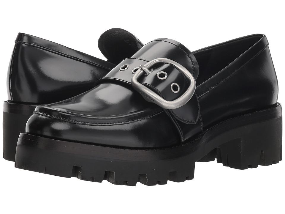 COACH Grand Lug Sole Loafer (Black Cordovan) Women's Shoes