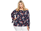 LAUREN Ralph Lauren LAUREN Ralph Lauren Plus Size Floral Jersey Off the Shoulder Top
