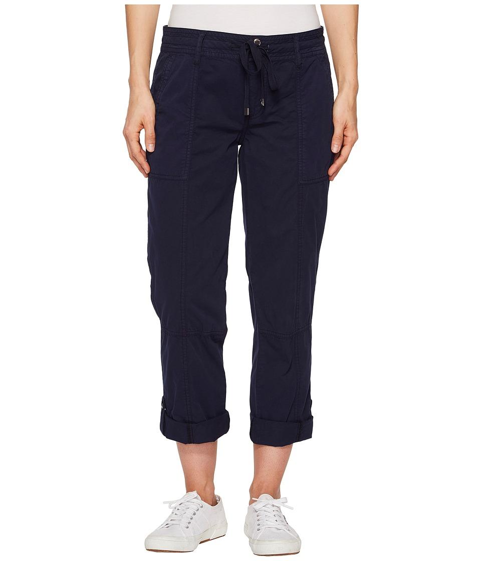 LAUREN Ralph Lauren Drawstring Chino Cargo Pants (Navy) Women