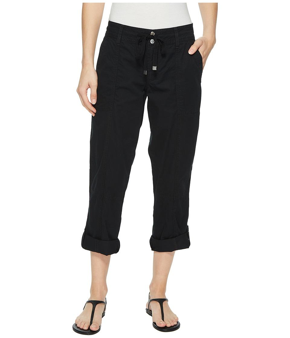 LAUREN Ralph Lauren Featherweight Twill Cargo Pants (Polo Black) Women