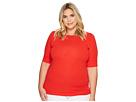 LAUREN Ralph Lauren LAUREN Ralph Lauren Plus Size Cotton Boat Neck T-Shirt