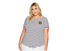 LAUREN Ralph Lauren LAUREN Ralph Lauren Plus Size Bullion-Patch Striped T-Shirt