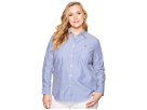 LAUREN Ralph Lauren LAUREN Ralph Lauren Plus Size Striped Cotton Shirt